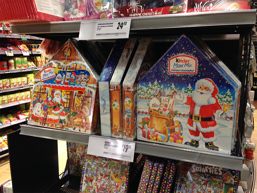 julekalender chokolade kinder