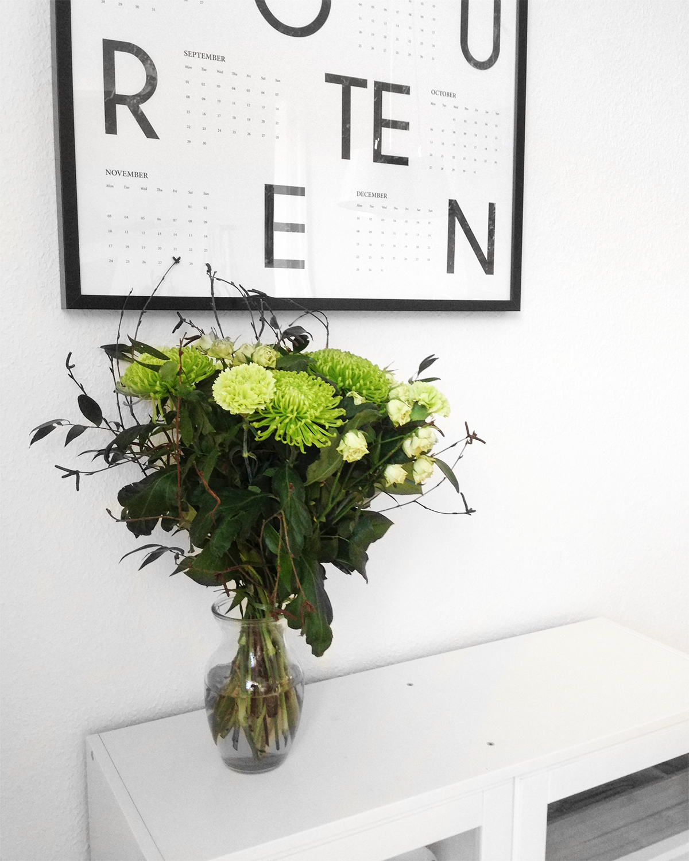 job med blomster